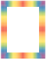 Design paper rainbow gingham 50 sht  8-1/2 x 11