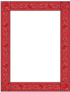 Red bandana design paper