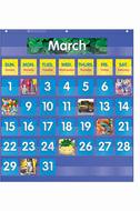 Monthly calendar pocket chart  gr k-5