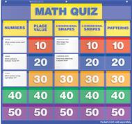 Math class quiz gr k-1 pocket chart  add ons