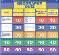 Geography class quiz gr 2-4 pocket  chart add ons