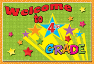 Postcards welcome to 4th grade