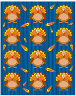 Turkeys shape stickers 72pk