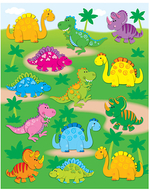 Dinosaurs shape stickers 78pk