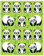 Pandas shape stickers 84pk