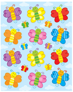 Butterflies shape stickers 72pk