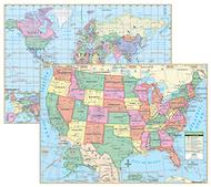 Us & world primary deskpad maps 5pk