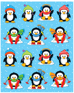 Penguins shape stickers 84pk