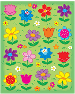 Flowers shape stickers 96pk