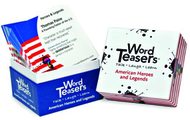 Wordteasers flash cards american  heroes and legends