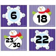 Snowflake snowman calendar cover  ups