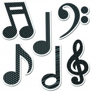 Music symbols 6in designer cut outs