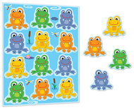 Funky frogs shape stickers