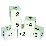 Foam positive & negative number  dice