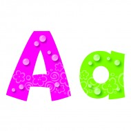 Bubbles 4in playful uppercase  lowercase combo pack ready letters
