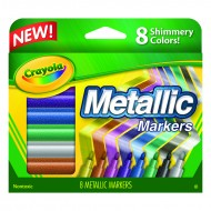 Crayola metallic markers 8 colors