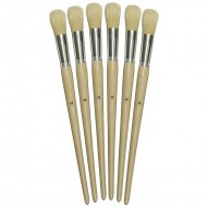 Long handle round brushes sz12 22mm  set of 6