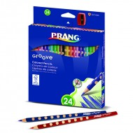 Prang groove colored pencils 24 ct