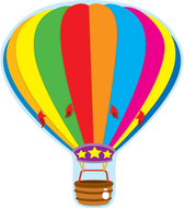 Hot air balloon two sided  decorations