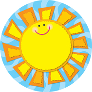 Sun two sided decoration 15 x 15