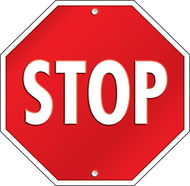 Stop sign two sided decorations