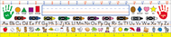 Nameplates traditional 36/pk 18 x 4  manuscript primary gr