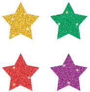 Dazzle chart seals stars 440/pk  multicolor acid & lignin free