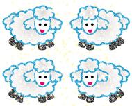 Dazzle stickers lambs 96/pk acid &  lignin free