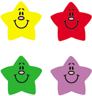 Chart seals smiling stars 810/pk  acid & lignin free