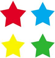 Chart seals stars multicolor 810/pk  acid & lignin free
