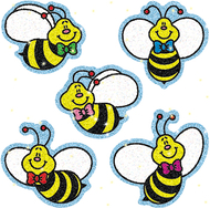 Dazzle stickers bees 75-pk acid &  lignin free