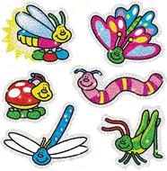 Dazzle stickers bugs 90-pk acid &  lignin free