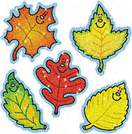 Dazzle stickers fall leaves 75-pk  acid & lignin free