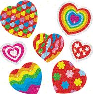 Dazzle stickers hearts 105-pk acid  lignin free
