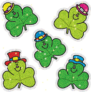 Dazzle stickers shamrocks 75-pk  acid & lignin free