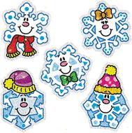 Dazzle stickers snowflakes 75-pk  acid & lignin free