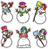 Dazzle stickers snowmen 90-pk acid  & lignin free