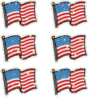 Dazzle stickers flags 90-pk acid &  lignin free