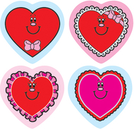 Shape stickers valentine hearts