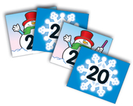 Two-sided calendar cover-ups  snowflake/snowman