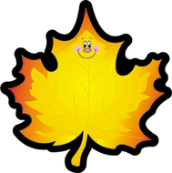 Colorful cut-outs maple leaf 36/pk  single design