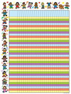 Chartlet incentive kid-drawn kids  17 x 22