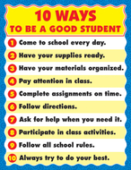 Chartlet 10 ways good student  17 x 22