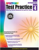 Test practice workbook gr 4