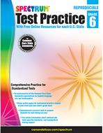 Test practice workbook gr 6