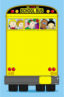 Novel note school bus 50 sheets
