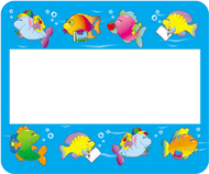 Name tags school of fish 40/pk  self-adhesive