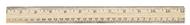 School ruler wood 12 in single