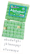 Visual closure 1 lower manuscript  set alphabet stamps