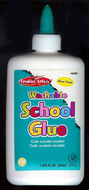Economy washable school glue 8 oz